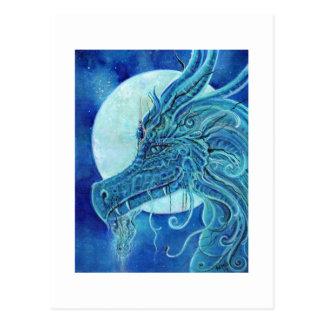 La fantasía azul del dragón de Renee Lavoie Tarjeta Postal