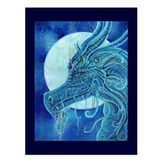 La fantasía azul del dragón de Renee Lavoie Tarjetas Postales