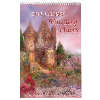 La fantasía coloca el calendario 2010