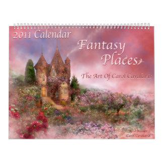 La fantasía coloca el calendario 2011