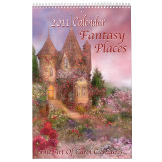 La fantasía coloca el calendario 2011 del arte