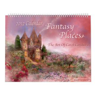 La fantasía coloca el calendario 2012 del arte