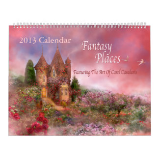 La fantasía coloca el calendario 2013 del arte