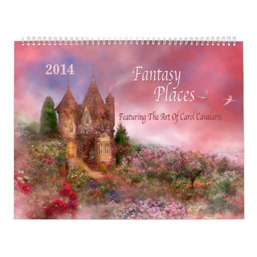 La fantasía coloca el calendario 2014 del arte