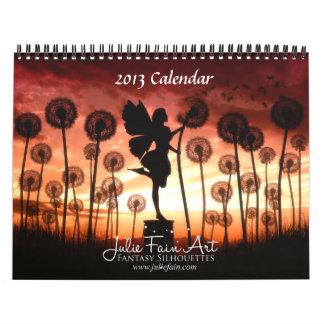 La fantasía contenta de Julia siluetea el Calendario