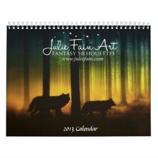 La fantasía contenta de Julia siluetea el Calendario De Pared