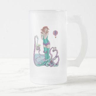 La fantasía de señora Pin Up Octopus Cook del cefa Taza Cristal Mate