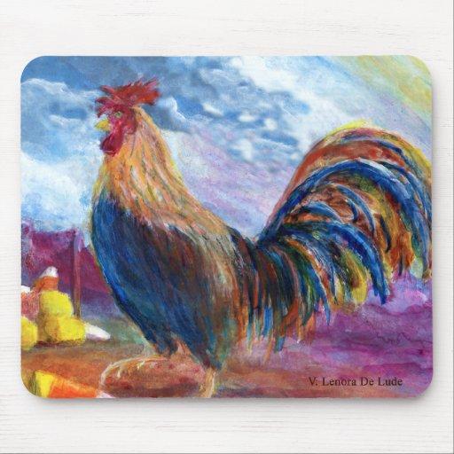 La fantasía hace para creer pollos y las pastillas alfombrilla de ratones