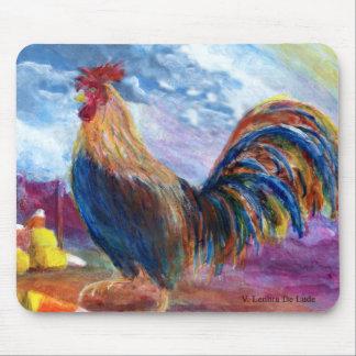 La fantasía hace para creer pollos y las pastillas alfombrilla de raton