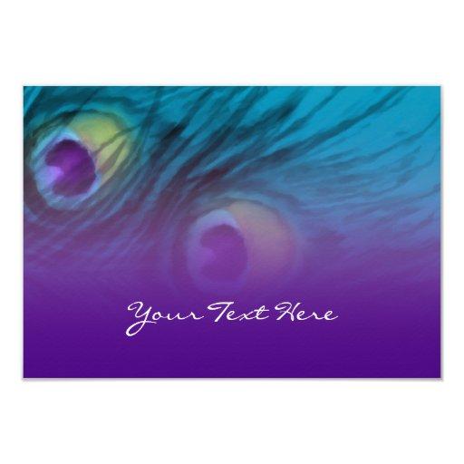 La fantasía RSVP del pavo real de la invitación Invitación 8,9 X 12,7 Cm
