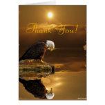 La fauna de la gratitud de Eagle calvo le agradece Tarjeton