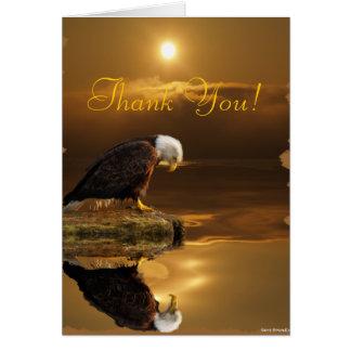 La fauna de la gratitud de Eagle calvo le agradece Tarjeta De Felicitación