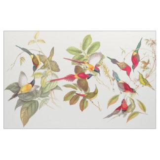 La fauna de los pájaros de Sunbird florece la tela Telas