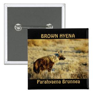 La fauna del hyena de Brown badges los botones Pin