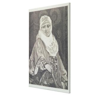 La Favorita'- Woman with a Veil Canvas Print