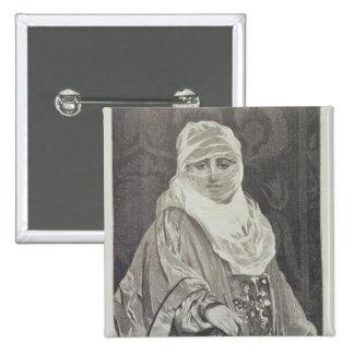 La Favorita'- Woman with a Veil Pinback Button