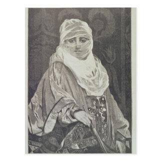 La Favorita'- Woman with a Veil Postcard