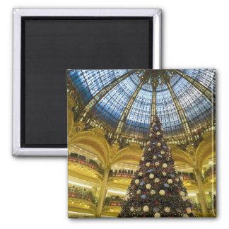 La Fayette en el navidad, París, Francia de Galeri Imán Cuadrado