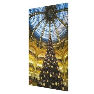 La Fayette en el navidad, París, Francia de Galeri Impresion De Lienzo