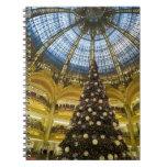 La Fayette en el navidad, París, Francia de Galeri Libros De Apuntes Con Espiral