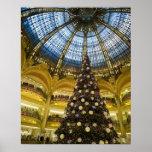 La Fayette en el navidad, París, Francia de Galeri Póster