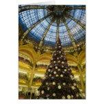 La Fayette en el navidad, París, Francia de Galeri Tarjeta De Felicitación