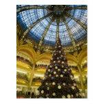 La Fayette en el navidad, París, Francia de Galeri Tarjeta Postal