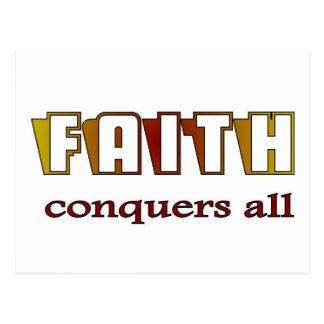 La fe conquista a todo el cristiano postal