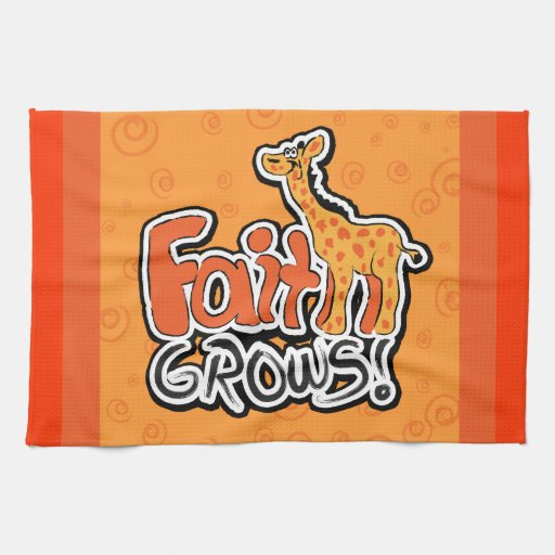 La fe crece la toalla de cocina de la jirafa