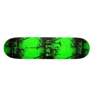 La fe cristiana Jesús es señor Skateboard Monopatin