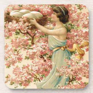 la fe de pascua florece la jerarquía rosada de la posavasos