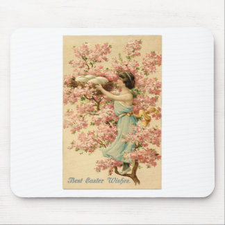 la fe de pascua florece la jerarquía rosada de la alfombrilla de raton