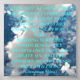 La fe en las nubes póster