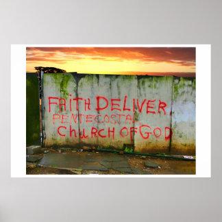 La fe entrega la iglesia póster