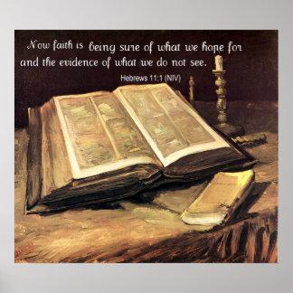 la fe es… 11:1 de los hebreos póster