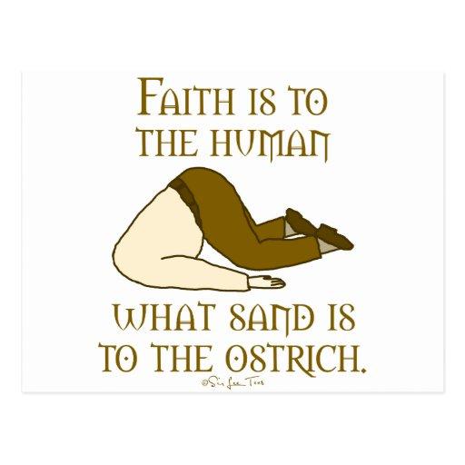 La fe es arena tarjetas postales