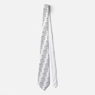 La fe es holgazanería corbata personalizada