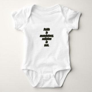 La fe es obligatoria body para bebé