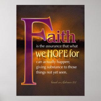 La fe es poster póster
