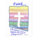 La fe es sustancia de las cosas esperadas… postal