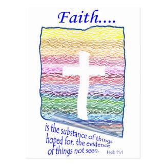 La fe es sustancia de las cosas esperadas… postales