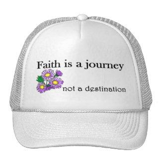 La fe es un viaje no un destino gorros bordados