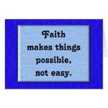 La fe hace cosas posibles tarjeton