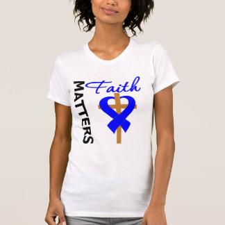 La fe importa cáncer anal camisetas