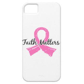 La fe importa cáncer de pecho 5 iPhone 5 carcasa