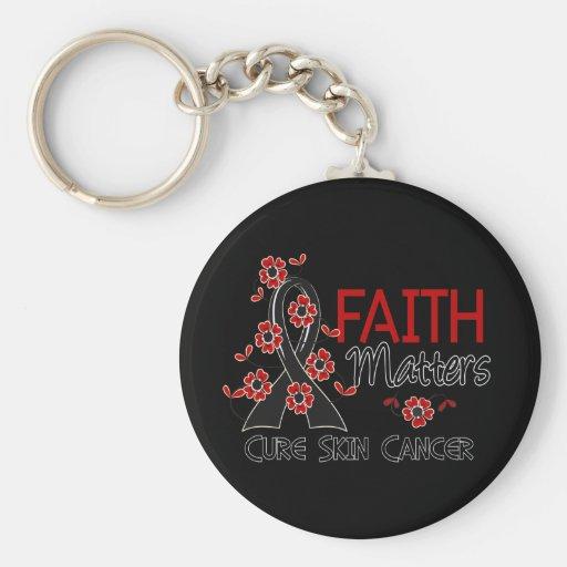 La fe importa cáncer de piel 3 llaveros
