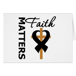 La fe importa cáncer de piel tarjeta de felicitación