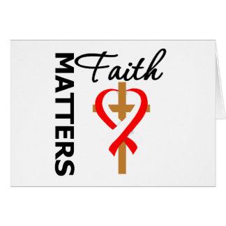 La fe importa cáncer oral tarjeta de felicitación