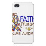 La fe importa el autismo 3 iPhone 4 fundas
