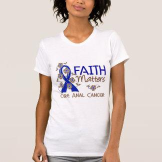 La fe importa el cáncer anal 3 camiseta